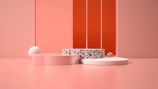 Moderne minimalistische podiumweergave. Premium Foto
