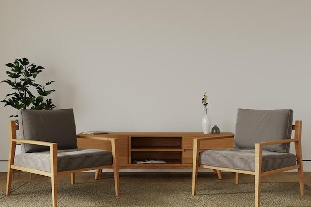 Moderne woonkamer met fauteuil Premium Foto