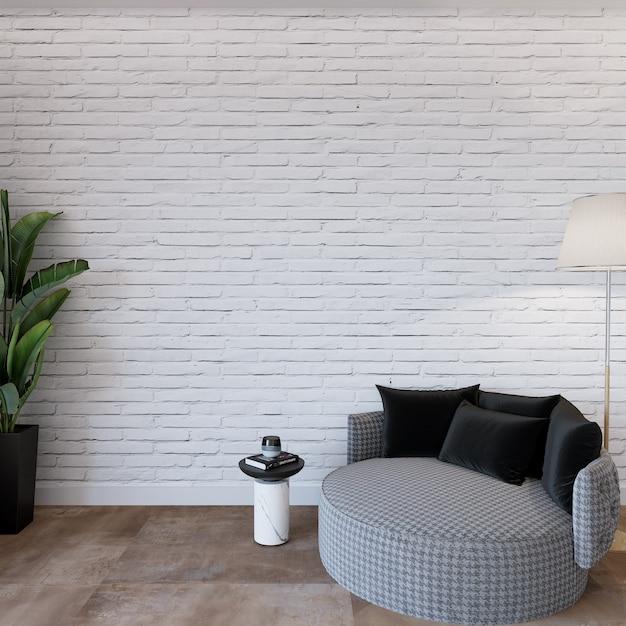 Moderne woonkamer met meubilair Premium Foto