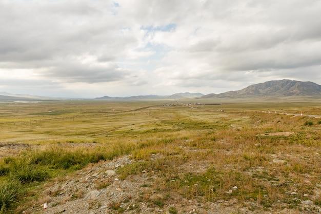 Mongools landschap van orkhon valley Premium Foto