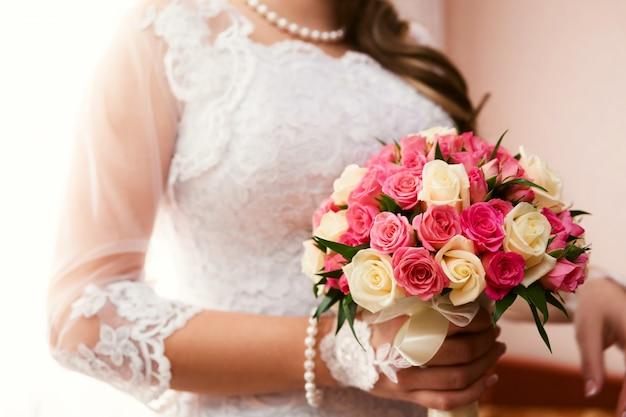 Mooi bruidsboeket Premium Foto