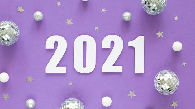 Mooi en glitterachtig nieuwjaarsconcept Gratis Foto