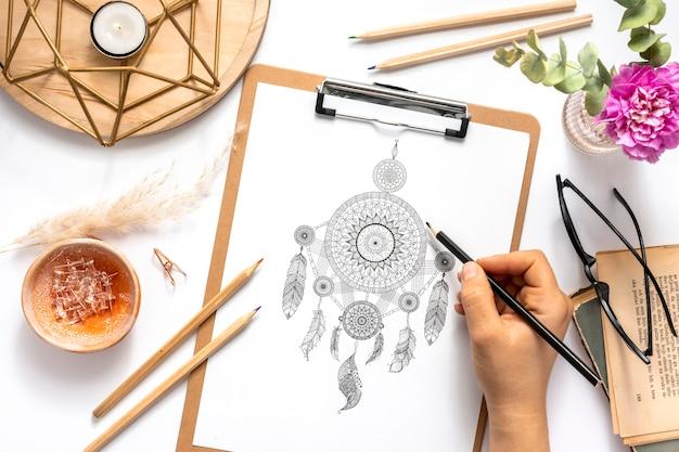 Mooi mandala ontwerpconcept Gratis Foto