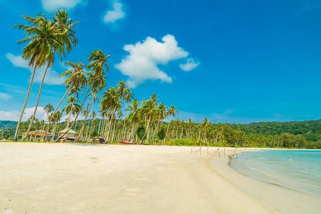 Mooi natuur tropisch strand en zee Gratis Foto