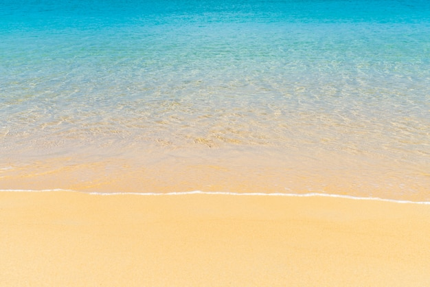 Mooi tropisch strand en zee in paradijs eiland Premium Foto