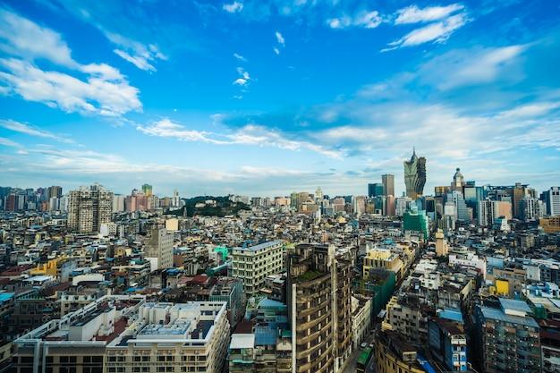 Mooie architectuur de bouwcityscape van de stad van macao Gratis Foto