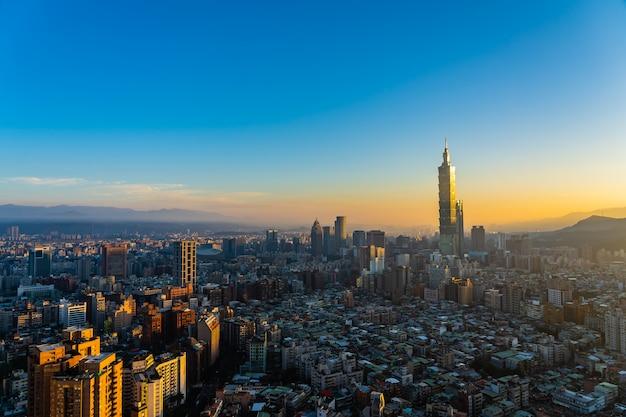 Mooie architectuur die de stad van taipeh bouwen Gratis Foto