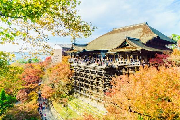 Mooie architectuur in kiyomizu-tempel in kyoto japan Gratis Foto