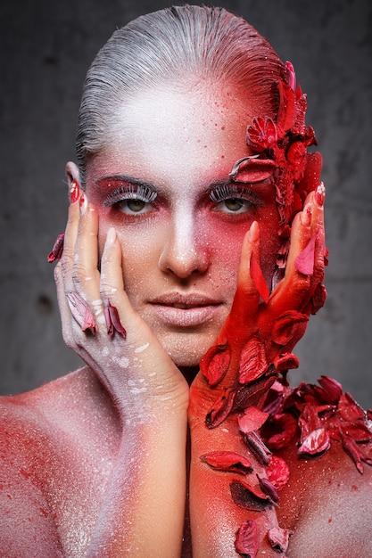 Mooie, artistieke make-up Gratis Foto