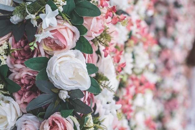 Mooie boeket bloem met kopie ruimte voor achtergrond Premium Foto