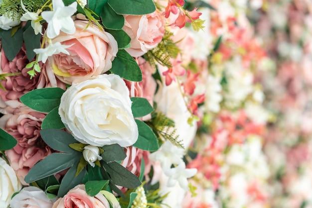 Mooie boeketbloem met exemplaarruimte voor achtergrond Premium Foto
