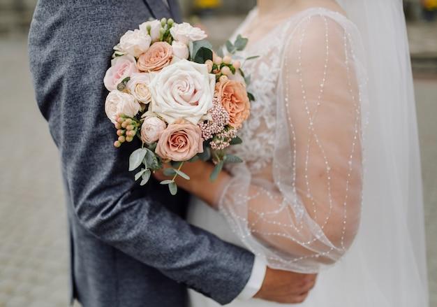 Mooie bruiloft boeket bloemen Gratis Foto