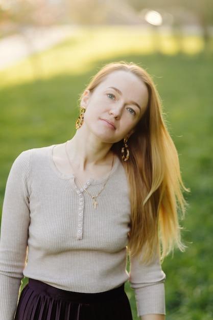 Mooie herfst meisje portret Gratis Foto