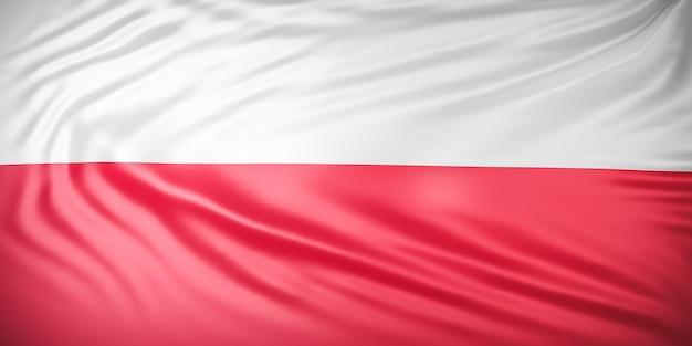 Mooie indonesische vlag wave close-up Premium Foto