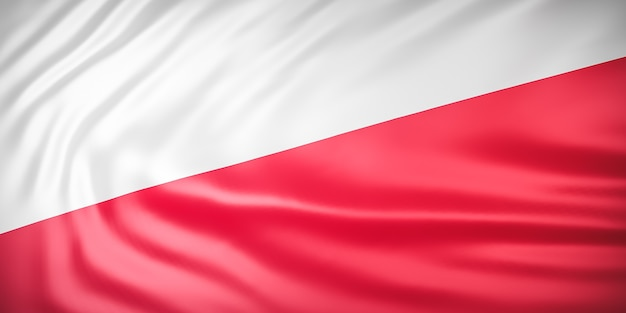 Mooie indonesische vlag wave close-up Premium Foto