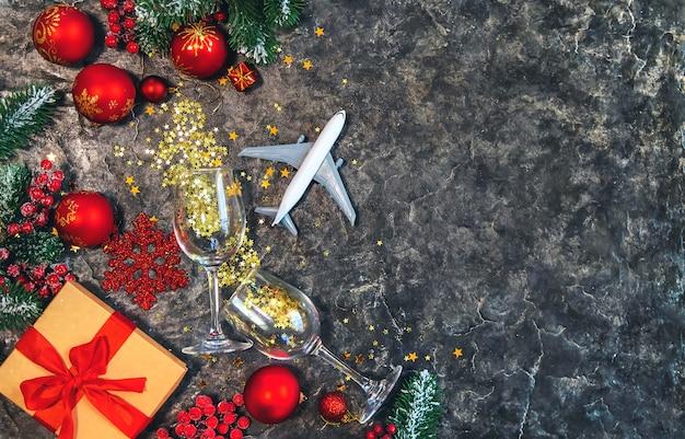 Mooie kerst achtergrond Premium Foto