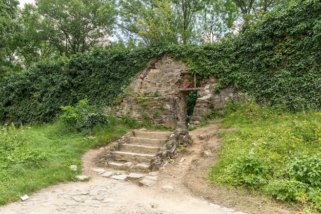 Mooie oude stenen trappen Premium Foto
