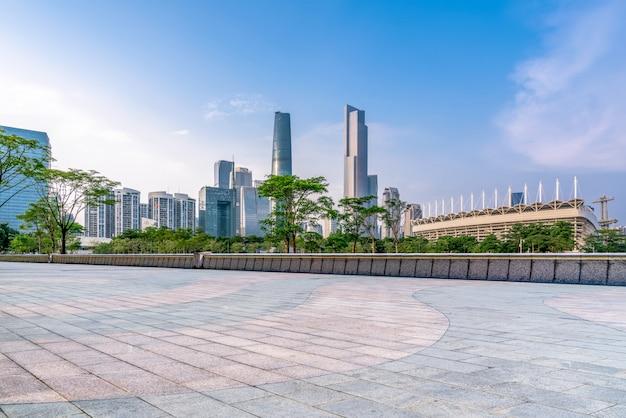 Mooie stadshorizon van guangzhou Premium Foto