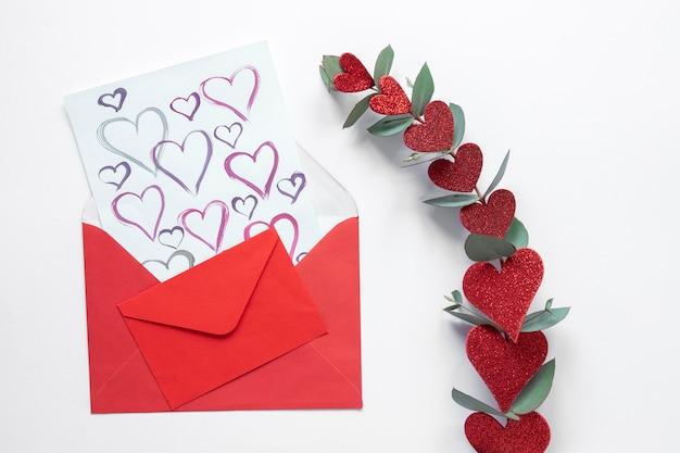 Mooie valentijnsdag concept met kopie ruimte Gratis Foto