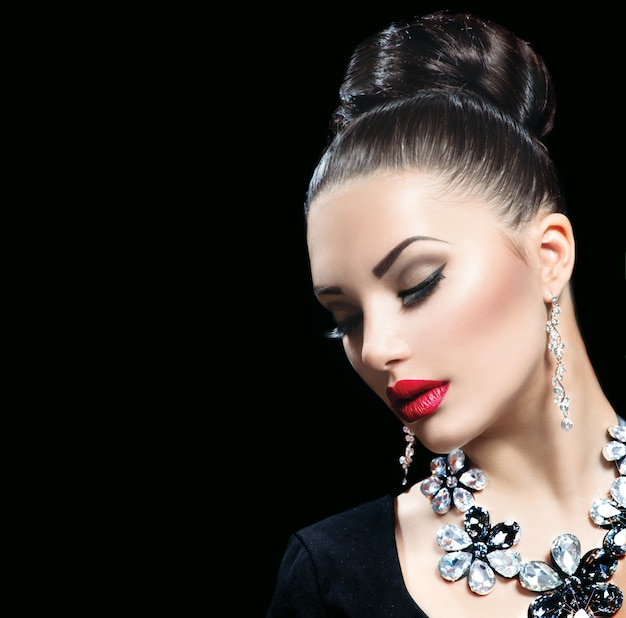 Mooie vrouw stijlvol Premium Foto