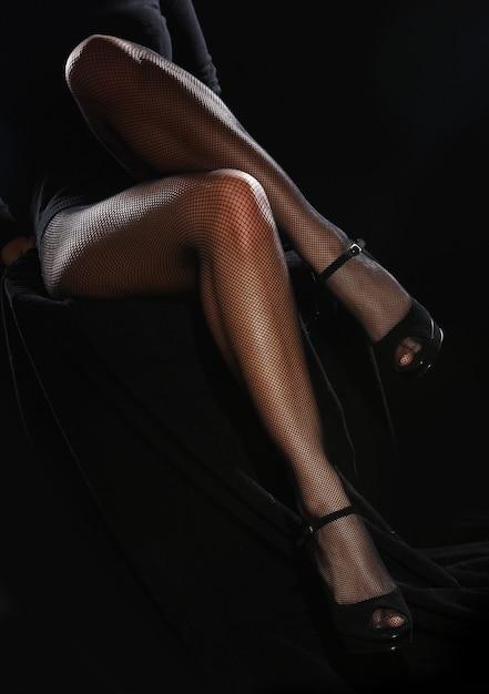 Mooie vrouwelijke benen in panty Gratis Foto