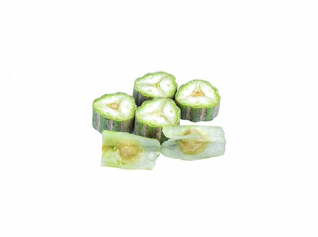 Moringa oleifera lam op wit Premium Foto