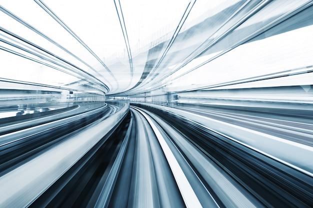 Motion blur van trein achtergrond Premium Foto