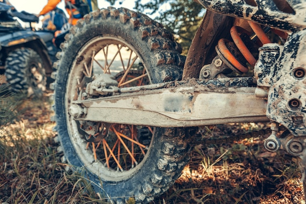 Motocross bike - details Premium Foto