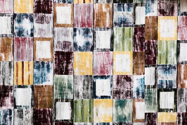 Mozaïek van kleurrijke vierkante vormentextuur Gratis Foto