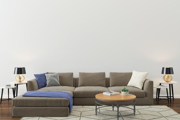 Muur textuur achtergrond houten vloer licht bruin sofa foto