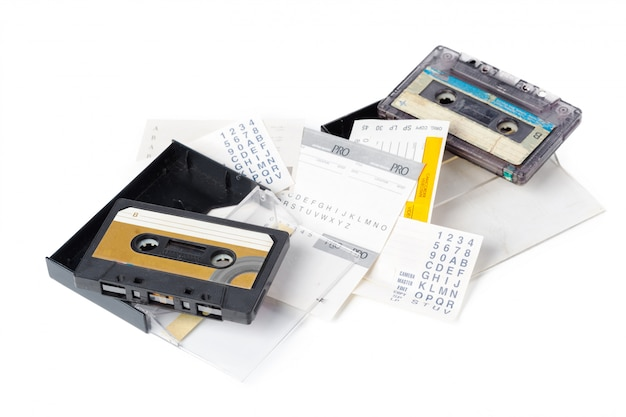 Muziek audio tape Premium Foto