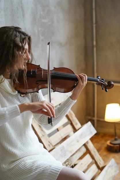 Muzikant viool spelen Gratis Foto