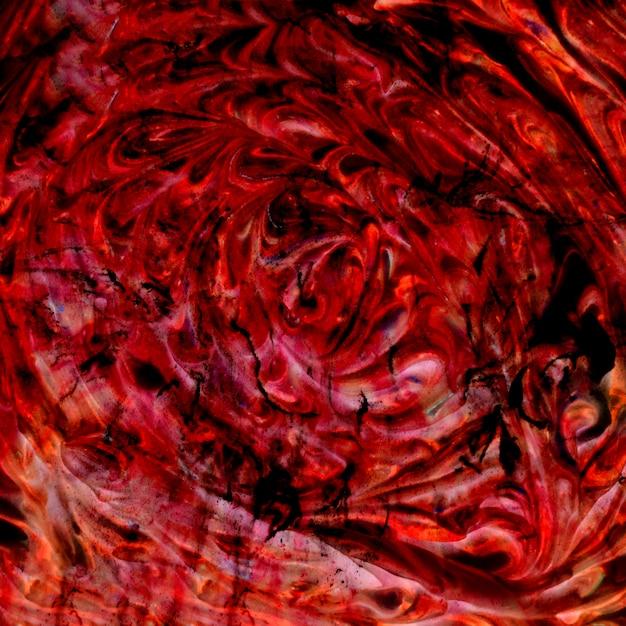 Naadloos behang met heldere textuur van rood en zwart kleurenschuim Gratis Foto