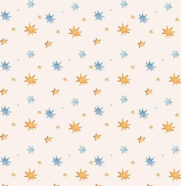 Naadloos patroon met sterren voor stoffen inpakpapier Premium Foto