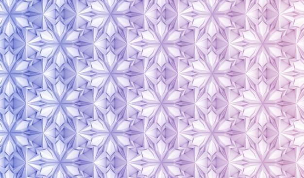 Naadloos patroon op basis van zeshoekig raster Premium Foto