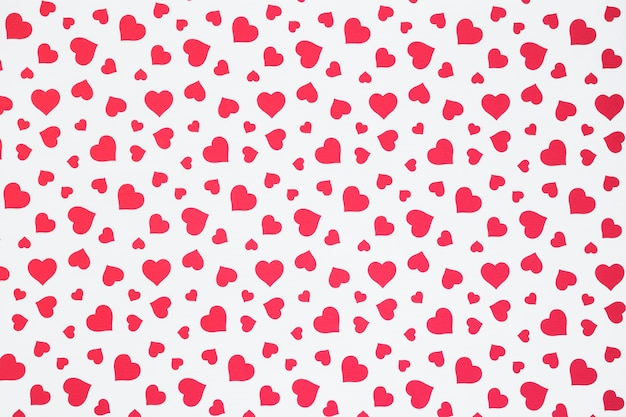 Naadloos patroon van harten Gratis Foto