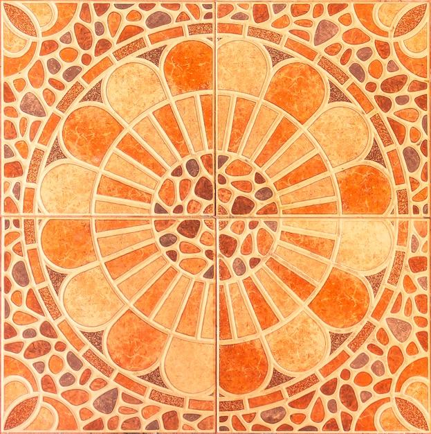 Naadloos patroon van klassieke vloertegels Premium Foto