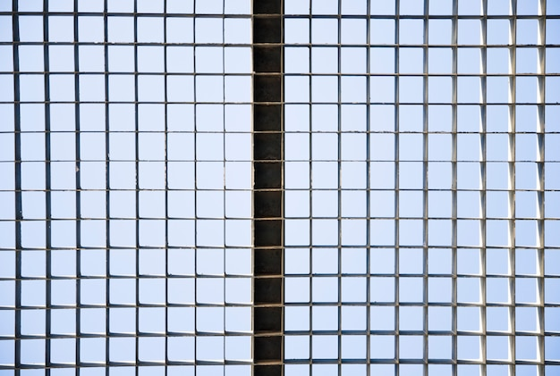 Naadloos patroon van metaalnetwerk Gratis Foto