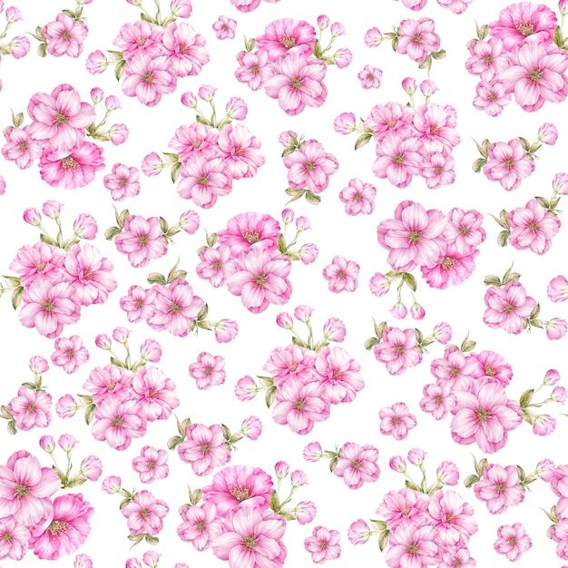 Naadloos patroon van rozen Premium Foto