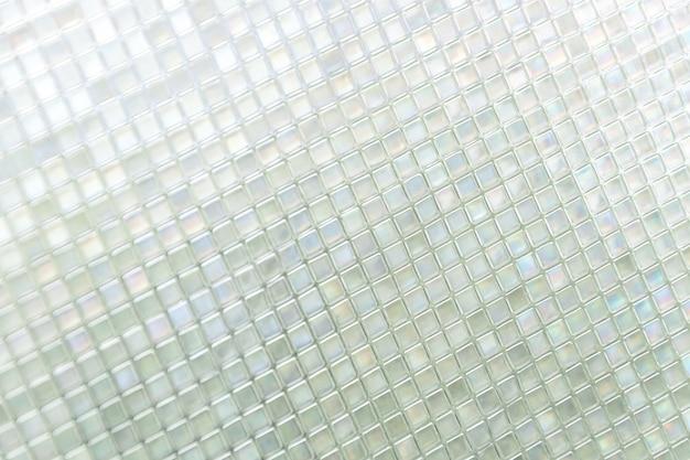 Naadloze blauwe glazen tegels textuur achtergrond, venster, keuken of badkamer concept Gratis Foto