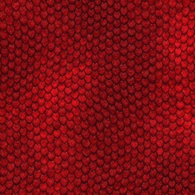 Naadloze draak schaal patroon Premium Foto