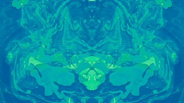 Naadloze etnische caleidoscoop patroon abstracte vloeibare verf Gratis Foto