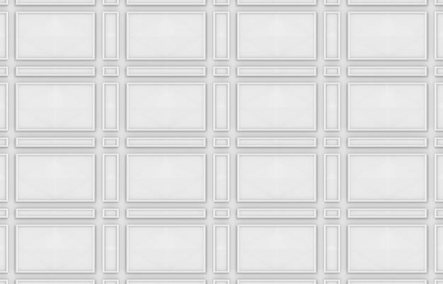 Naadloze moderne ontwerp witte rechthoekige vorm patroon muur achtergrond. Premium Foto
