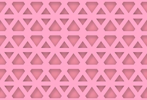 Naadloze moderne roze hexagonale geometrische patroonmuur Premium Foto