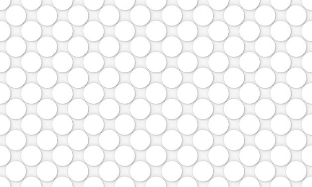Naadloze witte convexe ronde cirkelvormige knop patroon ontwerp muur Premium Foto