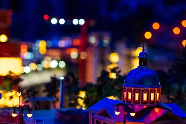 Nacht stadslichten zachte focus, miniatuur Gratis Foto