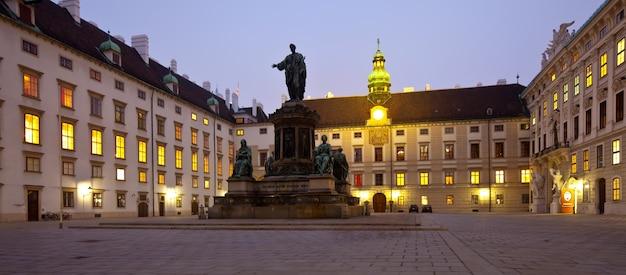 Nacht uitzicht hofburg paleis. wenen Gratis Foto
