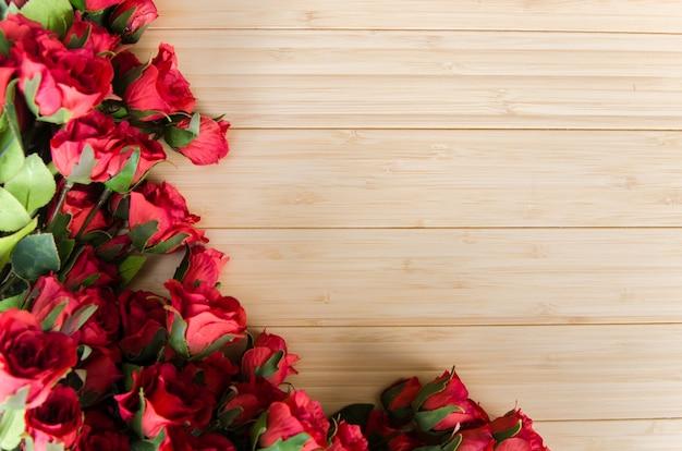 Nam bloemen geschikte achtergrond met copyspace toe Premium Foto