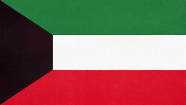 Nationale vlag van koeweit Premium Foto