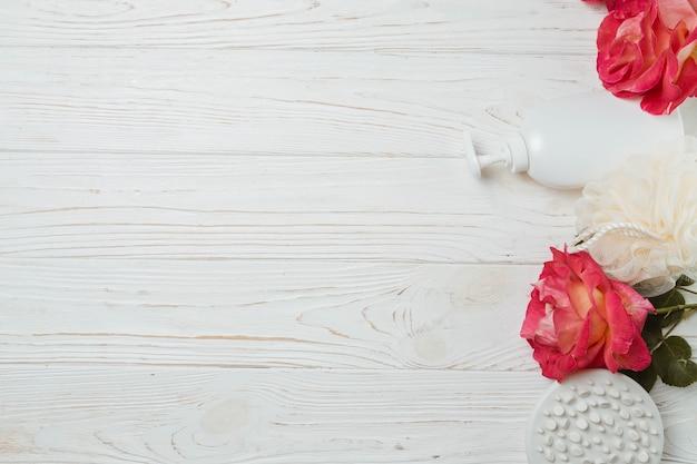 Natuurlijke elementen voor spa met bloemen Gratis Foto